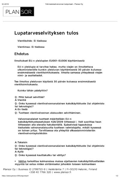 Esimerkki_luparaportti